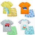18 M ~ 6 T de Alta Qualidade de Algodão Baby Boy Crianças Criança Crianças Roupas Ternos Roupas Definir Marca 2 pcs Meninos do bebê Conjuntos de Roupas de Verão