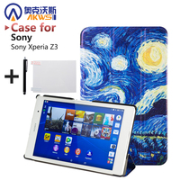 For Sony Z3 Compact Case Magnetic Smart PU Leather Case For Sony Xperia Z3 Compact Tablet