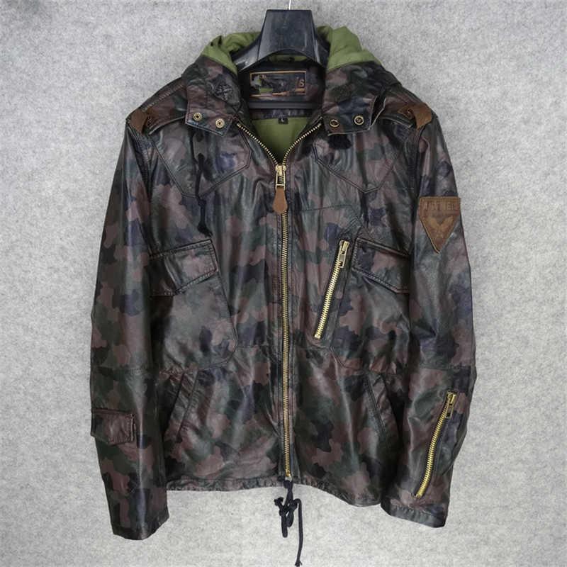 01a09d9f66a Мужская куртка из натуральной овечьей кожи стильная овечья кожа зимняя  кожаная куртка