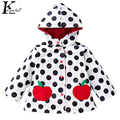 2017 Spring New Children Raincoat Baby Clothing Fashion Hooded Girls Jacket Leisure Boys Sports Coat Wave Point Costume For Kids