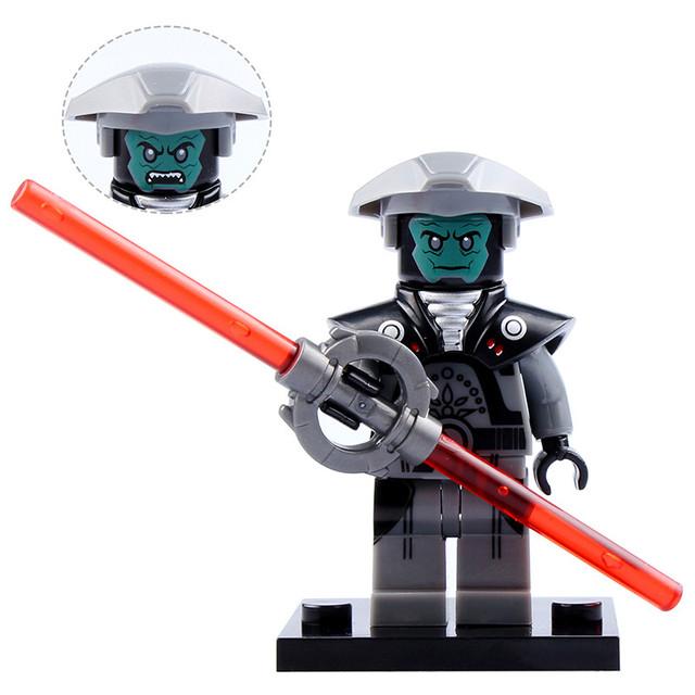 Single Figures Star War Darth Vader R2D2Leia Boba Fett Clone Trooper Kylo Ren XH Mini Blocks Building XINH Toys