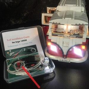 Image 1 - Đèn Led Bộ Lego Tạo Ra Loạt Volkswagen T1 Người Cắm Trại Văn Tương Thích Với 10220 Và 21001