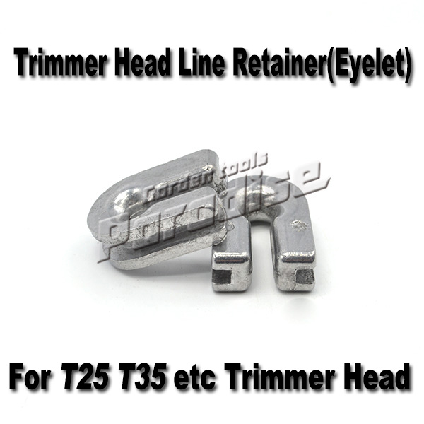 Trimmer Head Eyelet for T25 T35 Trimmer Head Line Retainer Garden Tools Brush Cutter Nylon Head Replacement Parts (4pieces/lot) silver alloy line trimmer head with 4 nylon line brush cutter for brushcutter garden tools lawn mower tool parts mayitr