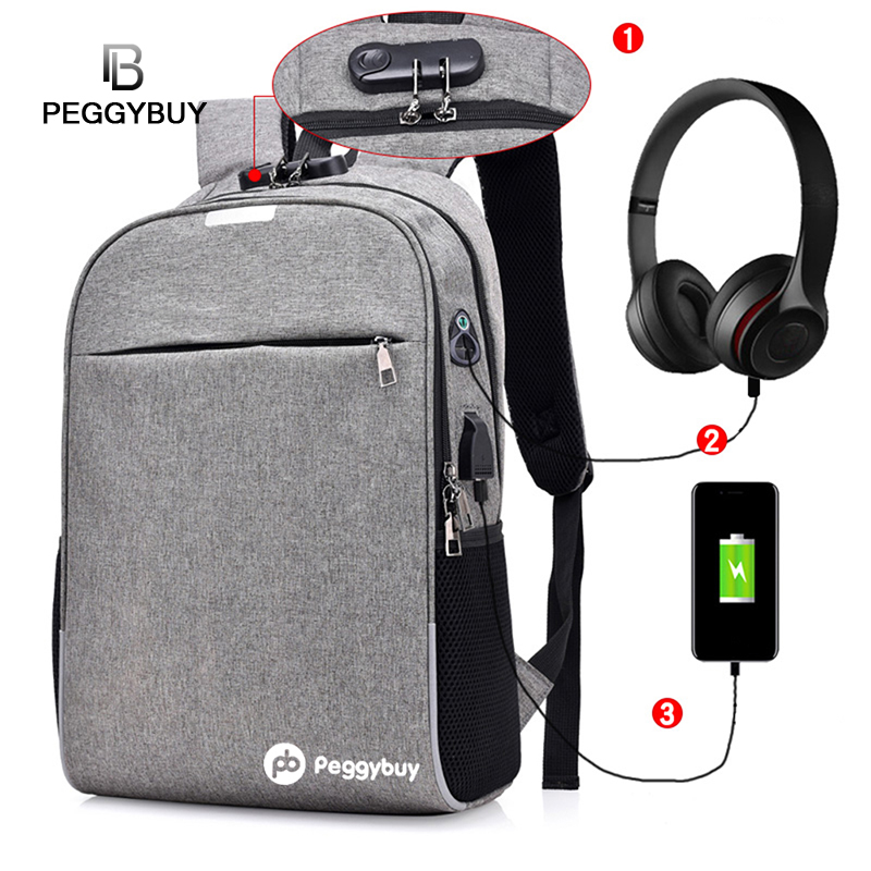 External Usb Charge Backpack Male Mochila Escolar Laptop Backpack Men Women School Usb Bags Business Anti-thief Backpack Teens