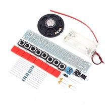 DIY Kit NE555 Electronic Component Parts Electric Piano Organ Module DIY Set w/ Battery Box Electronic DIY Kits