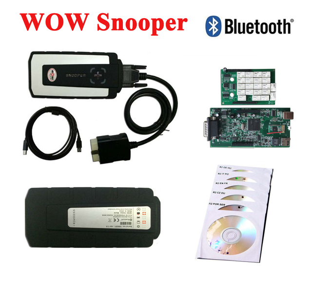 snooper obd  2018 WOW Snooper With Bluetooth Wurth WOW CDP Pro plus OBD2 Scanner ...