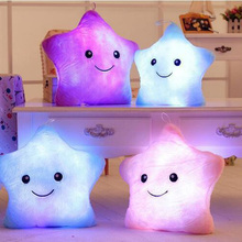 2018 HOt Sale Colorful Body Pillow Star Glow LED Luminous Light Pillow Cushion Soft Relax Gift