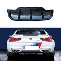 Fit For BMW 6 series F06 F12 F13 M6 640 650 2012 2019 Rear Bumper Diffuser Bumpers Lip Protector Guard 2 and 4 door carbon fiber| | |  -