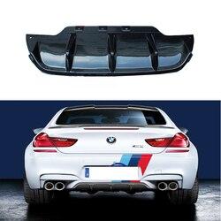 Fit Voor BMW 6 serie F06 F12 F13 M6 640 650 2012-2019 Achterbumper Diffuser Bumpers Lip Protector guard 2 en 4 deur carbon fiber