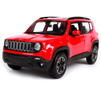 Kids toys Maisto 1:24 Red Jeep Renegade SUV Vehicles Sports Cars 1/24 Alloy Diecast Car Model Boys Gift Car Toys for Collection