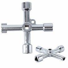 4 в 1 сплав треугольник/квадратный Универсальный Крест треугольник ключ для поезда Электрический шкафчик лифта клапан Крест ключ инструмент