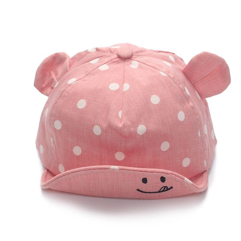 Polka Dot baba baseball sapka aranyos fül csecsemő fiú nap kalap - Bébi ruházat