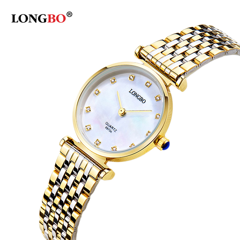 Simple style stainless steel fashion quartz watch women casual montre femme rhinestone luxury brand gold watches