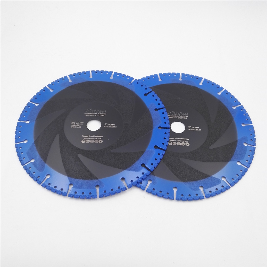 цены DIATOOL 2pcs 230mm Vacuum Brazed Diamond Blade For All Purpose 9