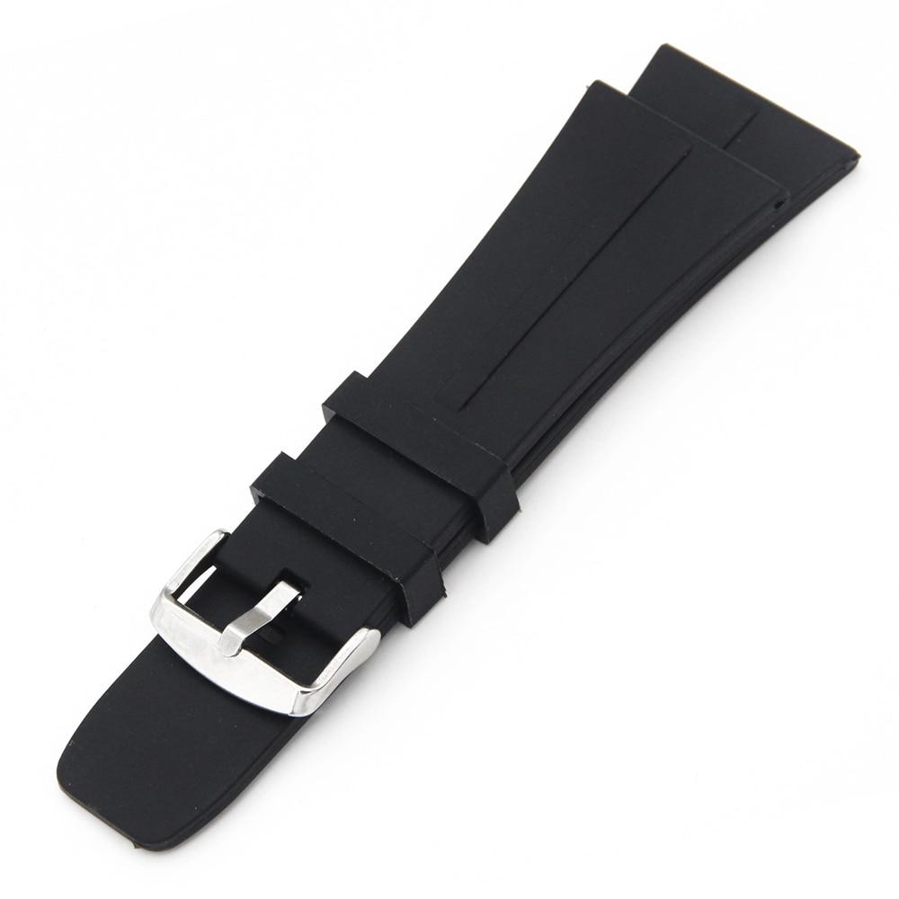 798820fb716 Pulseira de Borracha de Silicone Watch Band 30mm Universal Pin Fivela De  Aço Inoxidável Correia de Pulso Pulseira Cinto de Laço Preto + Primavera  Bar em ...