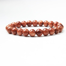 LIngXiang  Fashion Natural Jewelry Gold Sand stone Bracelet Sandstone beads Yoga woman meditation amulet