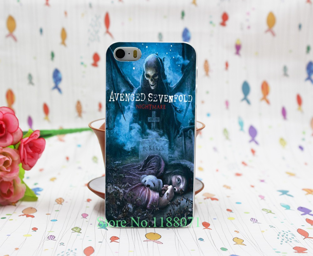 avenged sevenfold poster Design Transparent Hard Clear Cover Case for iPhone 5 5s 5g
