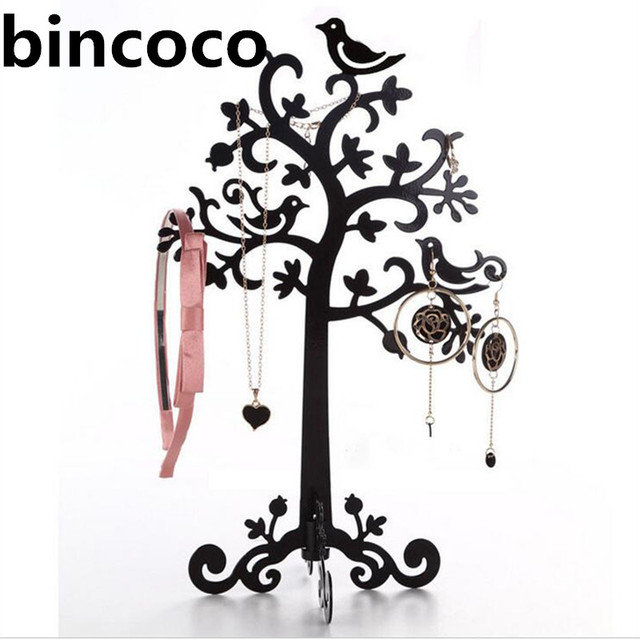 Bincoco Display Jewelry Organizer Show Rack Necklace Ring Earring Tree Stand Earings