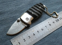 Ox Horn Handle Handmade Damascus Steel Knife Folding Pocket Knife Manual Portable Folding Knife Utility Knife