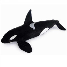 Fancytrader Giant Simulation Animals Killer Whale Plush Toy Big Stuffed Black Shark Doll Pillow Photography Props 130cm