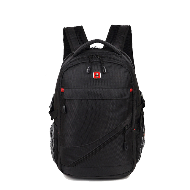 a basso prezzo 74504 95d6e US $39.0 |Swiss Oxford Backpack Men 15 Inch Laptop Bag Multifunctional  School Bag for Tear Resistant Waterproof Fabric Women-in Backpacks from  Luggage ...