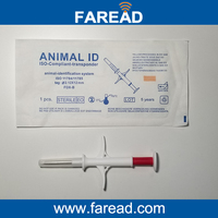 X40pcs Microchip Syringe In 2 12 12mm X1pc 134 2KHz Animal RFID Tag Reader ISO11784 5
