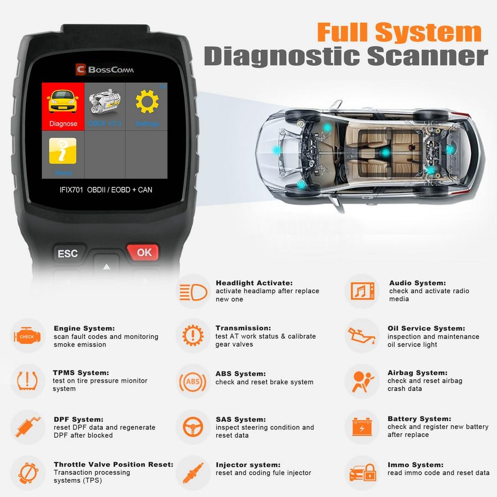 Autek IFIX701 Full System OBD2 Car Diagnostic Tool ABS SRS