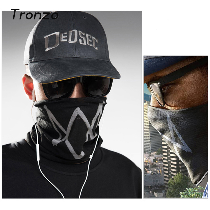 tronzo watch dog 2 mask cosplay for halloween party decoration black cloth game props cool aiden - Cool Masks For Halloween
