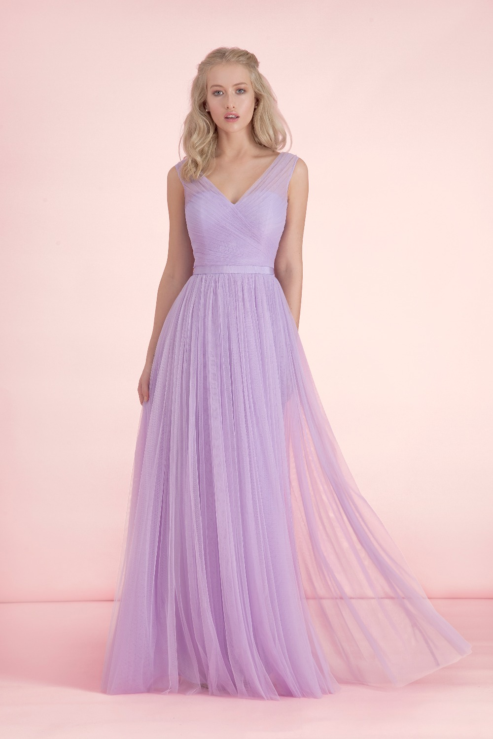 Compare Prices on A Line Long Light Purple Bridesmaid Dress ...