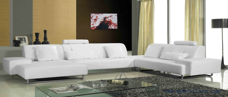 Free Shipping Modern Design Living Room Sofa Set, Made With Top Grain  Leather,U Shaped Smart Sofa S8629
