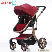 Darmowa wysyłka letnie wózki dla dzieci odporna na wstrząsy wysoki krajobraz wózek dla dziecka składane na cztery koła tanie tanio 19-24 M 13-18 M 7-9 M 10-12 M 0-3 M 4-6 M 2-3Y Aluminum alloy Oxford cloth PU foam 95*65*113