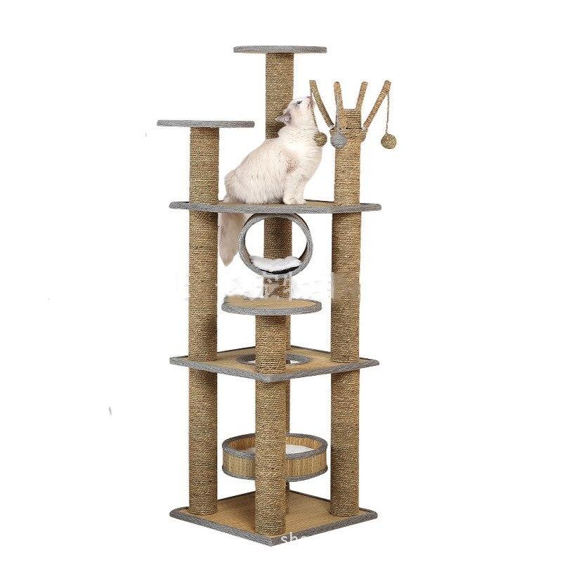 Plus grand chien chat escalade sisal cadre animal de compagnie sautant gratter arbre chat chien gratter jouets pet intéressant jouets - 2