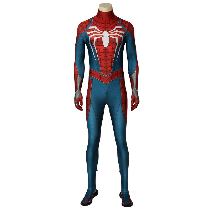 Insomniac PS4 Game Marvel's Spider Man Cosplay Costume Spiderman Jumpsuit Zentai Bodysuit Superhero Halloween Carnival Outfit
