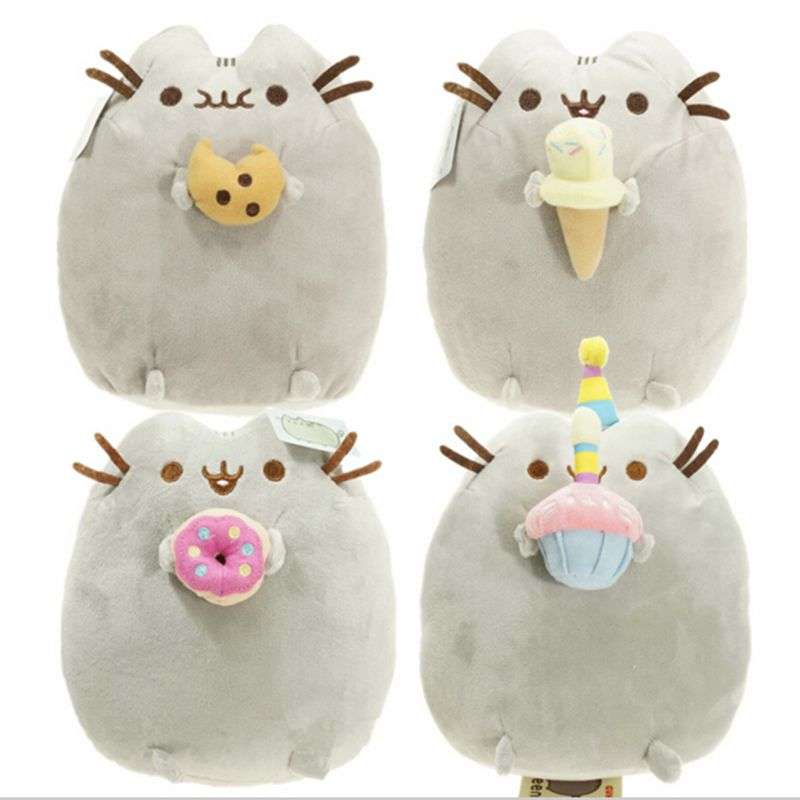 2016 Kawaii  New Pusheen Cat Cookie & Icecream & Doughnut  Stuffed & Plush Animals Toys for Girls doll Plush Toys Brinquedos kawaii pusheen cat brinquedos 15cm 23cm donuts cupcake sushi