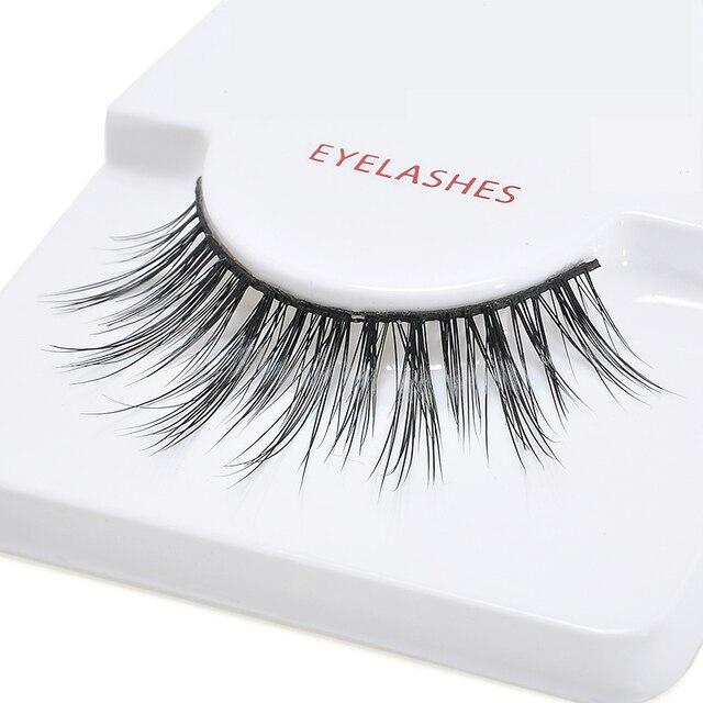 Aliexpress Buy 1pair Elegant Real Mink Eyelashes Handmade Soft