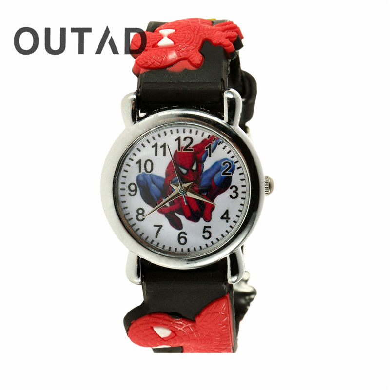 OUTAD Black Red 3D Rubber Cartoon Children's Watch Boys Kid Analog Quartz Sports Wrist Watches Montre Enfant Relogio 2pcs halogen bulb h7 55w super xenon white fog lights h7 car headlight lamp high power car light source parking 6000k auto