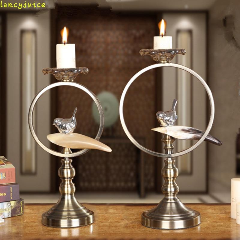 European Antique Bird Candle Holders European Style Brass ... on Antique Style Candle Holder Sconces id=60532