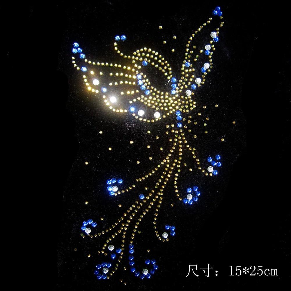 Aliexpress Buy 2pclot Butterfly Rhinestone Pattern Iron