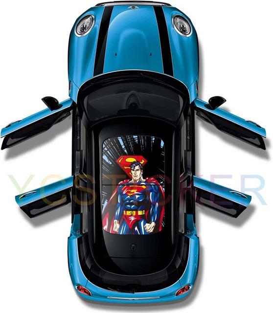 Online shopping india cool superman graphics car panoramic sunroof stickers camouflage vinyl wrap decal with nice