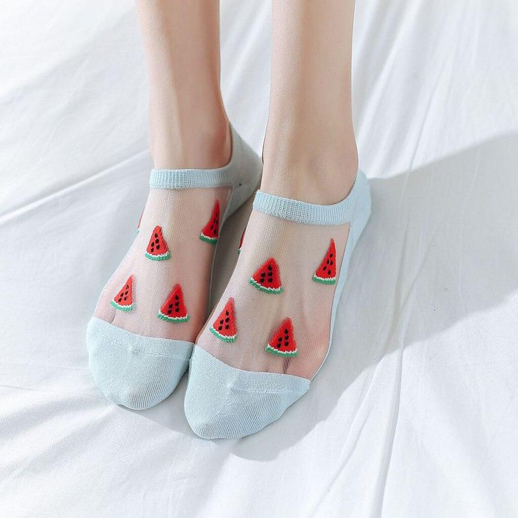 HTB1sdWdXLc3T1VjSZLeq6zZsVXaU - Women Casual Summer Fashion Transparent Silk Fruit Print Socks