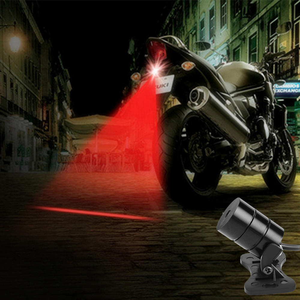 Anti Collision Tail Braking Parking Driving Safety Warning Lamps Moto Signal Light Laser Fog Lights Rear-end Motorcycle Light
