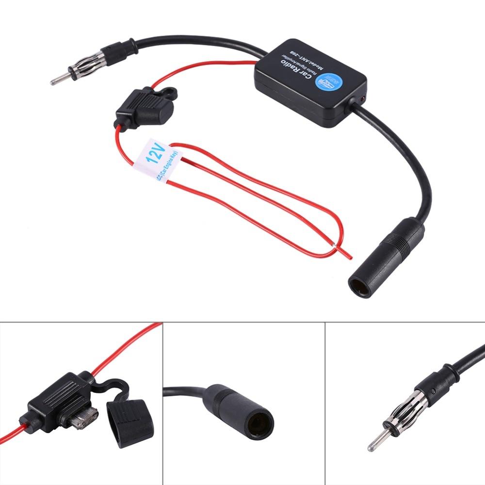 Car FM Radio Aerial Antenna Signal Reception Amp Amplifier Booster Radio Amplifier Car Radio Aerials 1 Set 12V Car Accessories