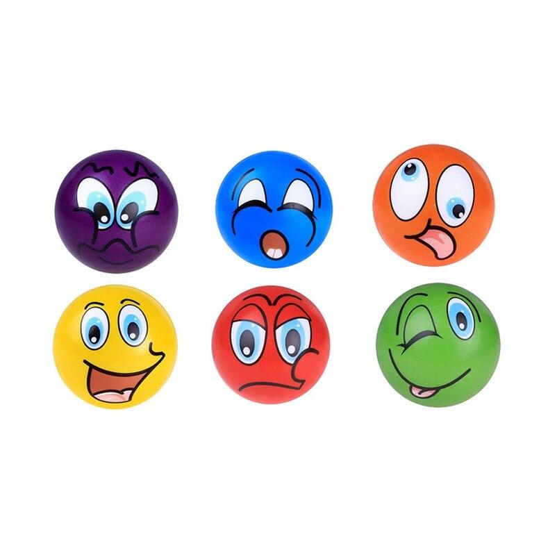 6 Stks Emoji Geur Stress Remedie Bal Super Langzaam Stijgen Kids Compressie Speelgoed 6.3 Cm Squeeze Zachte Smooshy Speelgoed 2019 Nieuwe Speciale Offe M5