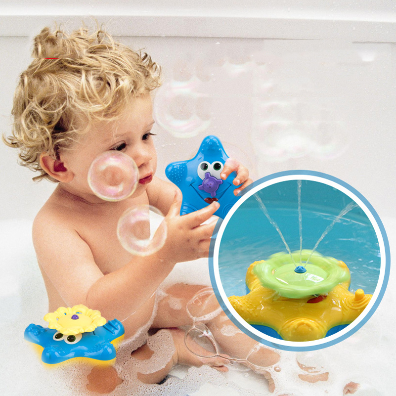 1 Piece Baby Shower Bathing Water Bath Toy Electric Starfish ...