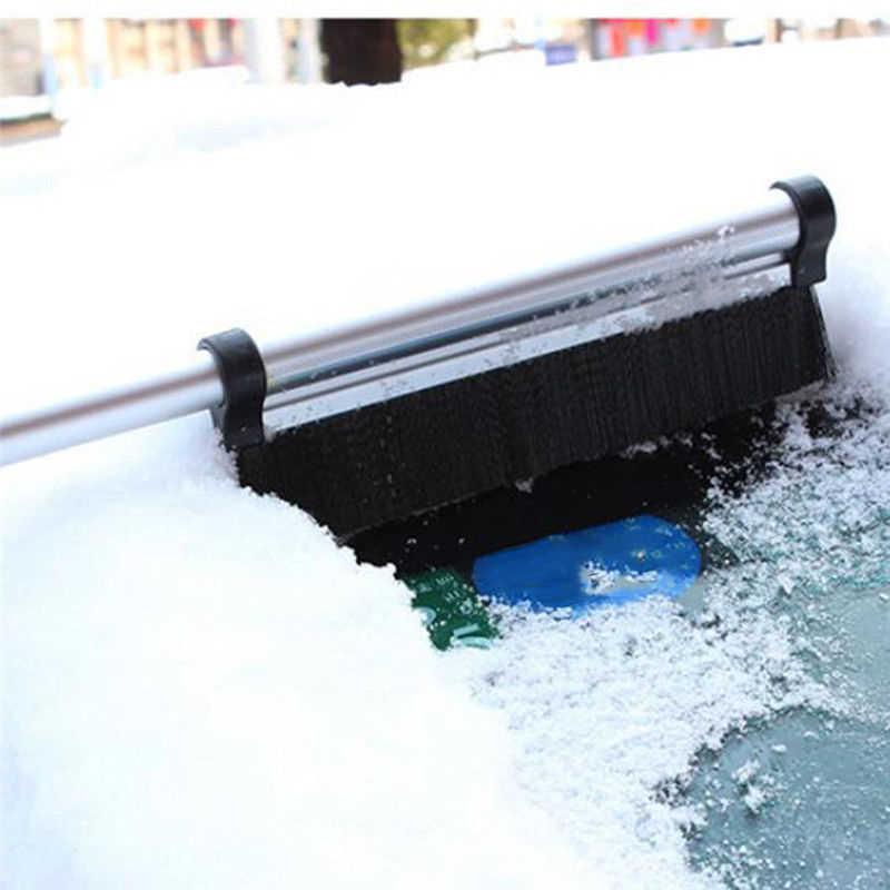 1 шт. скребок для снега льда Авто стекло автомобиля грузовика Выдвижная телескопическая лопата зимняя щетка для удаления снега алюминиевый сплав