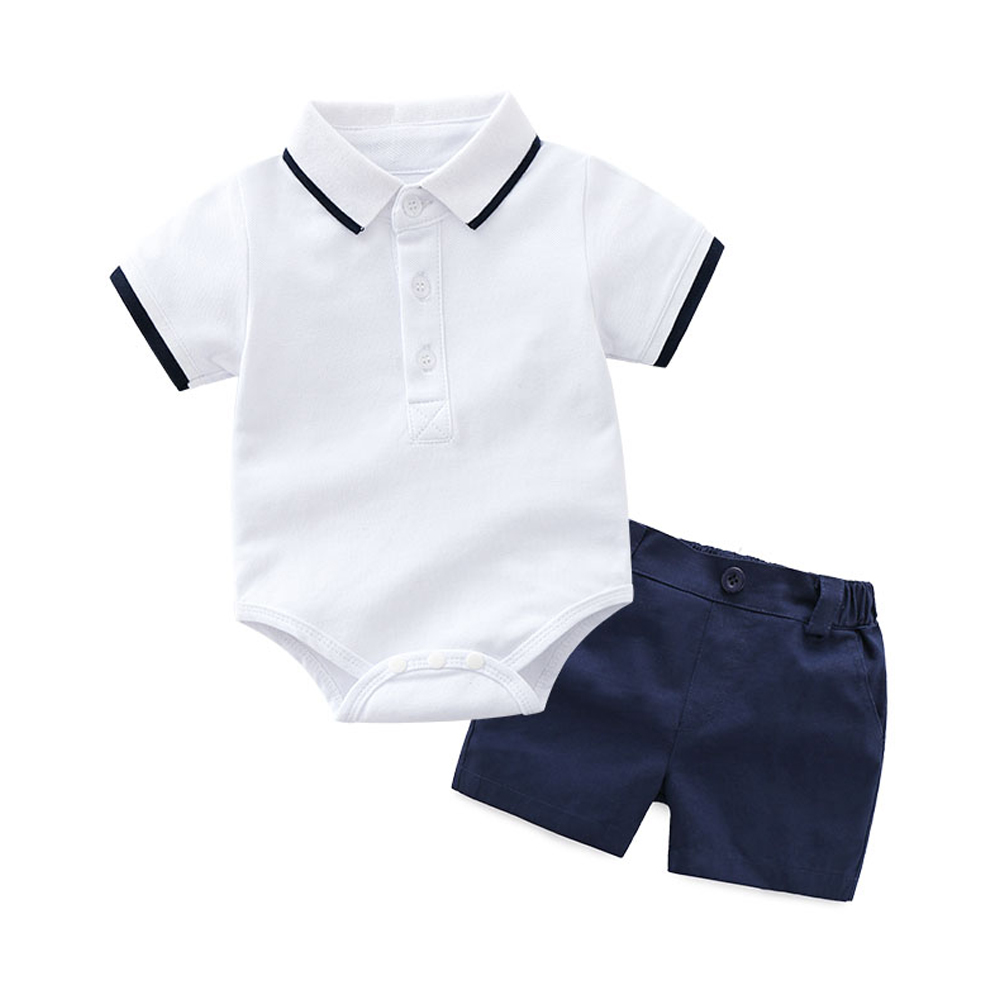 Tem Doger Baby Boys Summer Clothes Short Sleeve Romper + Shorts 2Pcs Suits Infants Newborn Toddler One-Pieces Jumpsuit Outfits