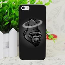 C1221 Rip Harambe Rígido Transparente Fina Pele Caso Capa Para Apple iphone 4 4s 4g 5 5g 5S se 5c 6 6 s além de