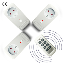 цена на 3PCS EU UK US RF Switch Socket 433 MHZ Wireless Remote Control Plug Adapter European Power Outlet For Household Learning Code