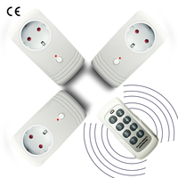 3PCS Wireless Remote Control Power Socket Outlet For Household Appliances EU UK US Plug 433MHz Learning Control Controller