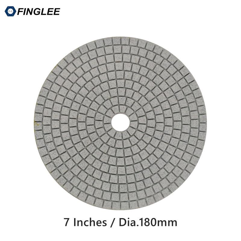 1ks 7 palců / 180 mm žulový mramor beton keramická mokrý diamantové leštící podložky mokré leštění pro kámen